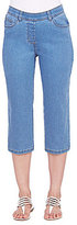 Allison Daley Petites 5-Pocket Pull-On Denim Capri