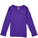 Soffe Purple Long-Sleeve Crewneck Tee