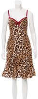 Moschino Cheap & Chic Moschino Cheap and Chic Leopard Print Knee-Length Dress