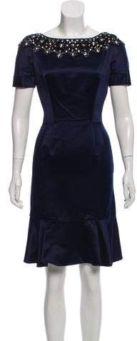 Christian Dior Satin Cocktail Dress