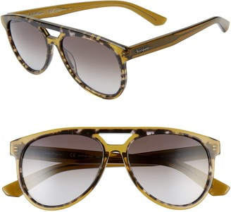 Salvatore Ferragamo 57mm Aviator Sunglasses