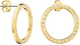 Calvin Klein Hook Swarovski Crystal Hoop Drop Earrings