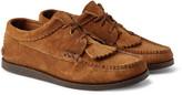 Yuketen - Textured-leather Kiltie Derby Shoes