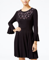 One Hart Juniors' Embroidered Fit & Flare Dress, Only at Macy's