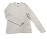 James Perse Classic Cashmere Crewneck Sweater in Pearl, Size 4