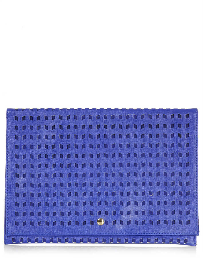 Topshop Perforated Clutch Bag