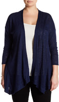 Bobeau Slub Knit Cardigan (Plus Size)