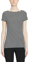 Lauren Ralph Lauren Stripe Boat Neck T-Shirt, Polo Black/White