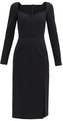 Dolce & Gabbana Sweetheart-neck Jersey Midi Dress - Black