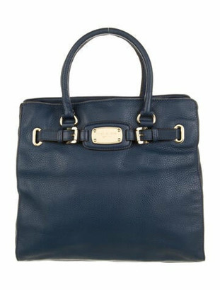 MICHAEL Michael Kors Leather Logo Tote Blue