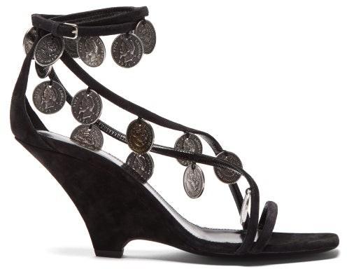 d3ee044b8ef8 Saint Laurent Embellished Women s Sandals - ShopStyle