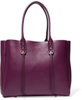 Lanvin The Shopper Small Leather Tote - Grape