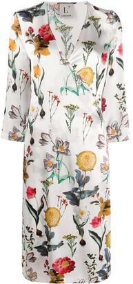 L'Autre Chose Blooming Garden Print Wrap Dress