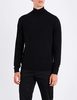 Paul Smith Mens Black Embroidered Casual Sweater