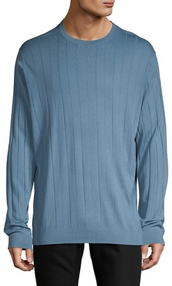 Emporio Armani Ribbed Wool-Blend Sweater