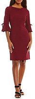 Jessica Howard Bell-Sleeve Empire Waist Sheath Dress