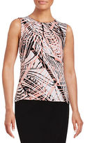 Andrew Marc Pleated Print Top