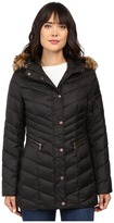 Andrew Marc Renee Chevron Down Coat