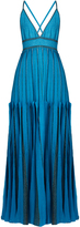 Missoni Halterneck lamé striped-knit gown