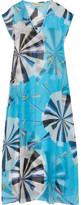 Emilio Pucci Printed Hammered Silk-chiffon Kaftan - Azure