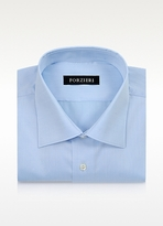Forzieri Light Blue Non-Iron Cotton Dress Shirt