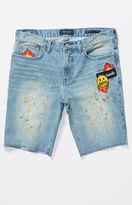 PacSun Skinniest Patchwork Denim Cutoff Shorts
