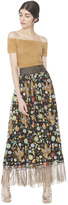 Alice + Olivia Kamryn Gathered Maxi Skirt