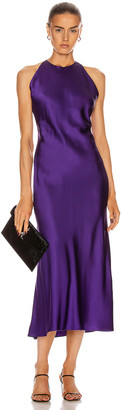 Rosetta Getty Cross Back Bias Slip Dress in Violet | FWRD