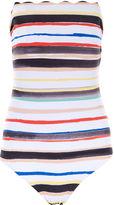 Marysia Swim Multi Striped Santa Monica Swimsuit
