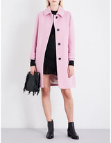 Maje Guepy single-breasted wool-bouclé coat