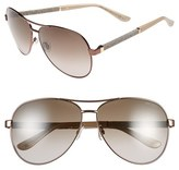 Jimmy Choo Women's 61Mm Aviator Sunglasses - Bronze