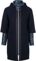 Herno layered puffer jacket - women - Cotton/Polyamide/Polyester/Wool - 40