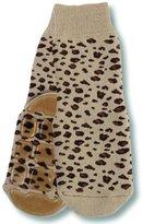 Country Kids Little Girls' Non-Skid Animal Slipper Socks Lulu Leopard, Pack of 1, Fits 3-5 Years