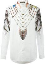 Roberto Cavalli wing printed shirt - men - Cotton - 40