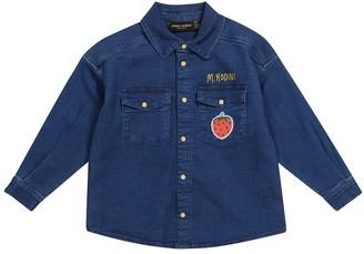Mini Rodini Embroidered denim shirt