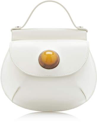 Marni Embellished Leather Top Handle Bag