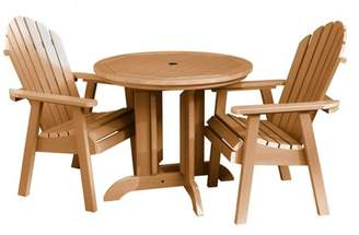 highwood Hamilton 3pc Round Dining Set Toffee