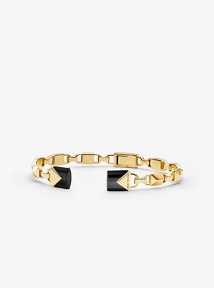 Michael Kors 14K Gold-Plated Sterling Silver Open Hinge Bangle