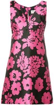 Milly floral print V-neck dress - women - Polyester/Spandex/Elastane - 2