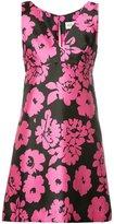 Milly floral print V-neck dress - women - Polyester/Spandex/Elastane - 2