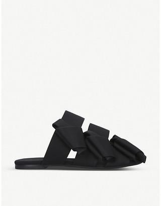 Stella Luna Bow backless satin sandals
