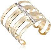Chamak by Priya Kakkar Gold-Tone Cleopatra Crystal Cuff Bracelet