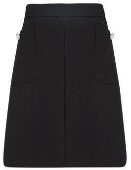 Dorothy Perkins Womens Tall Black Popper Mini Skirt, Black