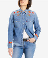 Levi's Limited Cali Western Cotton Denim Embroiderd Shirt, Created for Macy's