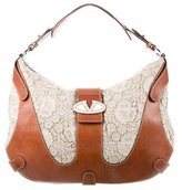 Valentino Lace & Leather Hobo