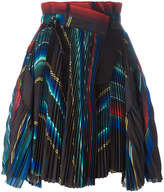 Sacai micro pleated wrap skirt