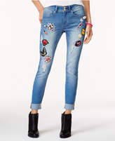 Indigo Rein Juniors' Patch Miller Wash Ripped Skinny Jeans