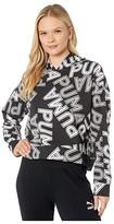 Puma Modern Sports All Over Print Hoodie Black) Women's Sweatshirt