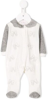 Aletta embroidered bow pyjamas