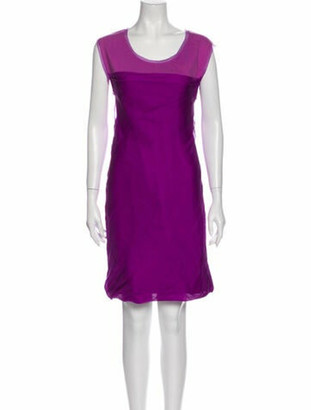 Chloé Scoop Neck Mini Dress Purple